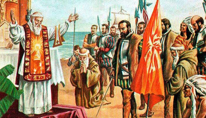 Hernán Cortés llega a Cozumel