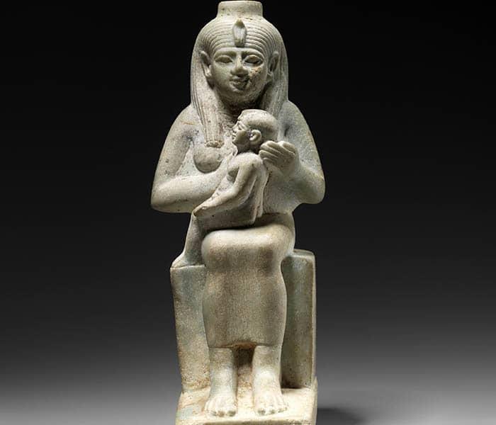 Estatuilla de Isis amamantando a Horus