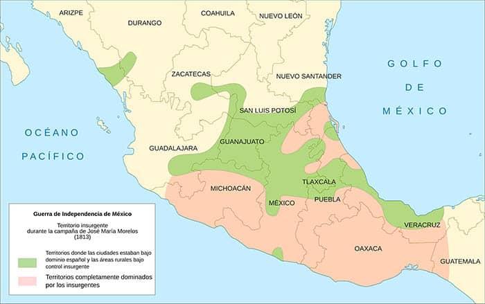 Territorio insurgente de la Independencia de México
