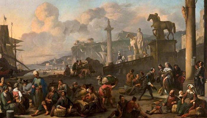 Un puerto mediterráneo imaginario