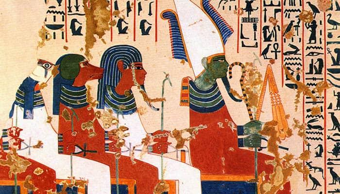 Osiris y los cuatro hijos de Horus