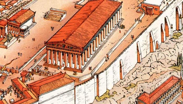 Ilustración de Alix, el niño griego