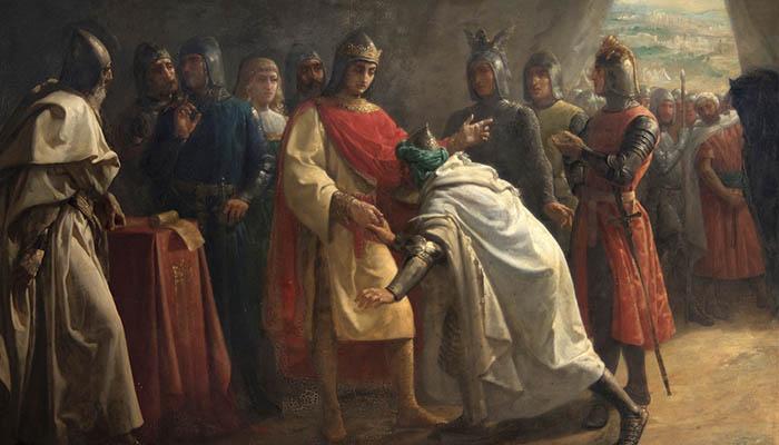 Alhamar, rey de Granada, rinde vasallaje al rey de Castilla, Fernando III el Santo