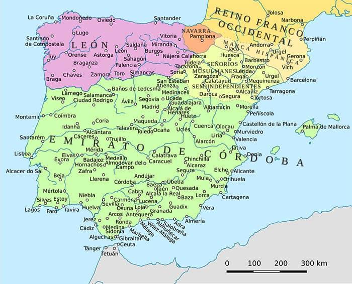 Mapa del Reino de León