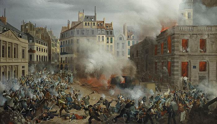 El incendio de la torre de agua en el Palais-Royal