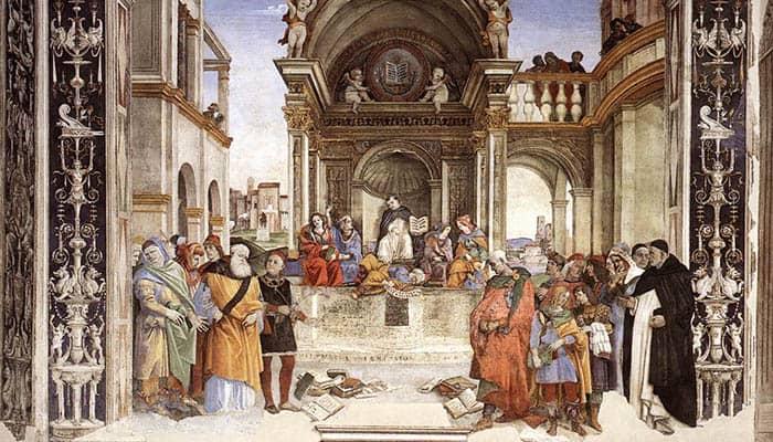 Triunfo de santo Tomás de Aquino sobre los herejes