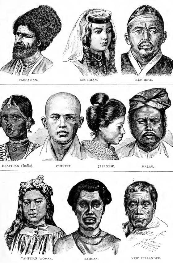 Ilustración de etnias