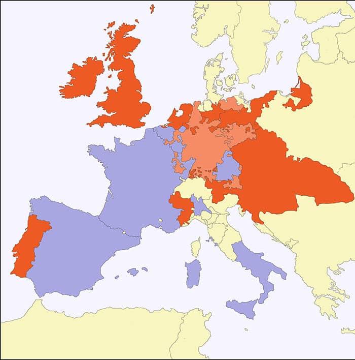 Mapa de la guerra de sucesión española