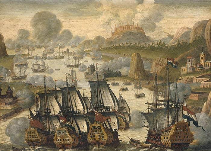 Batalla naval de la bahía de Vigo, 23 de octubre de 1702