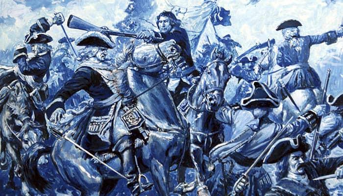 Ilustración sobre la participación francesa en la guerra de sucesión española