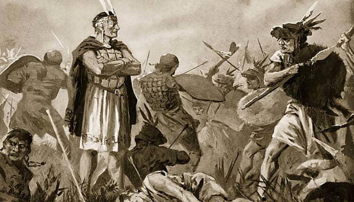 Enfrentamiento entre Huáscar y Atahualpa para hacerse con el control del Imperio inca