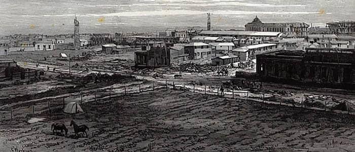 Ilustración de la creación de la ciudad de La Plata