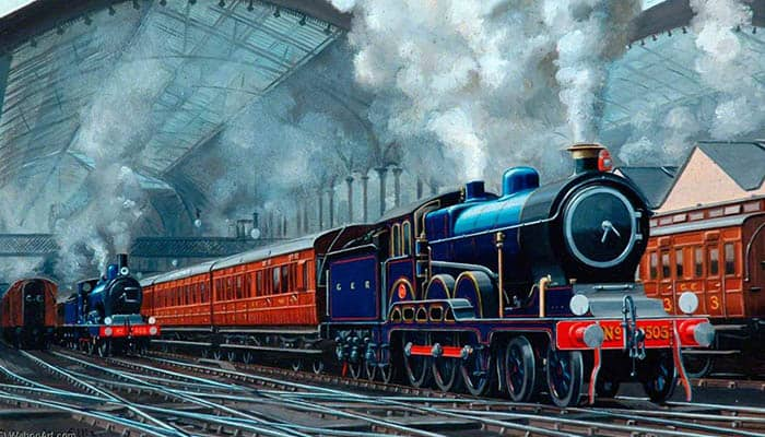 Locomotora del Gran Ferrocaril del Este