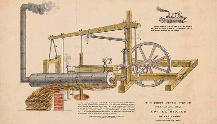 Historia de la máquina de vapor