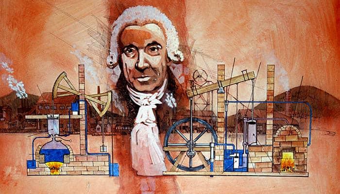 James Watt y la máquina de vapor