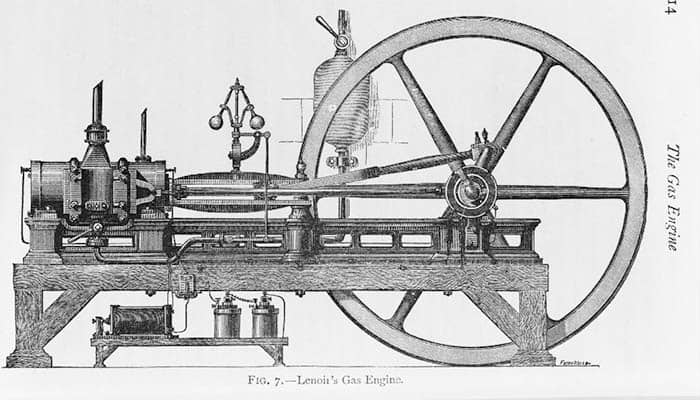 Motor de combustión interna de Lenoir de tres caballos