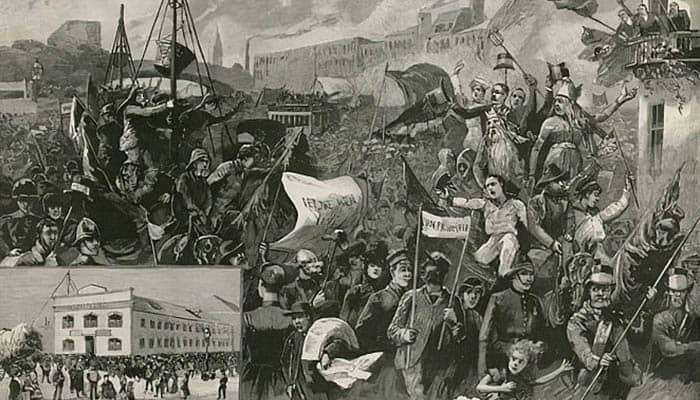 Gran huelga de los trabajadores portuarios en el East End