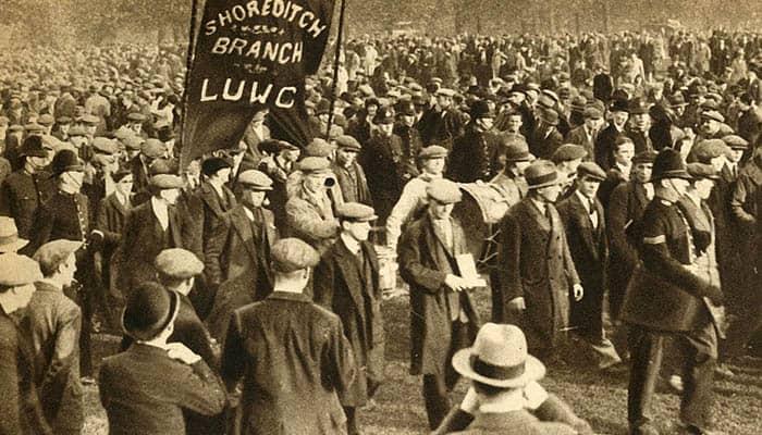Manifestantes de Shoreditch