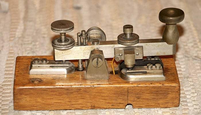 Tecla del telégrafo de Morse