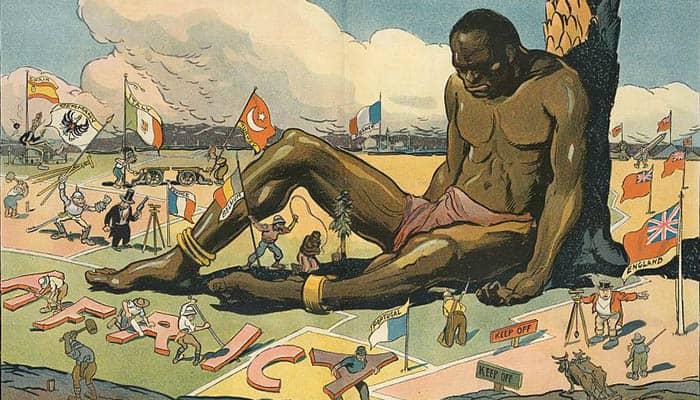 Ilustración del imperialismo en África