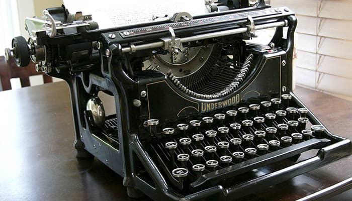 Máquina de escribir Underwood nº5
