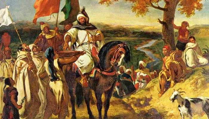 Caíd marroquí visitando su tribu