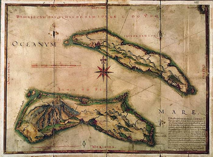 Mapa del archipiélago de las Azores