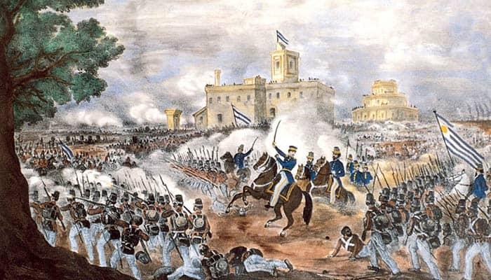 Ilustración de la batalla de Caseros