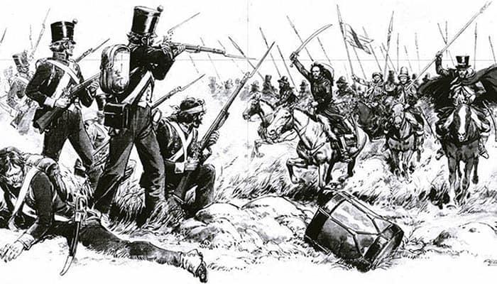 Ilustración de la batalla de Cepeda