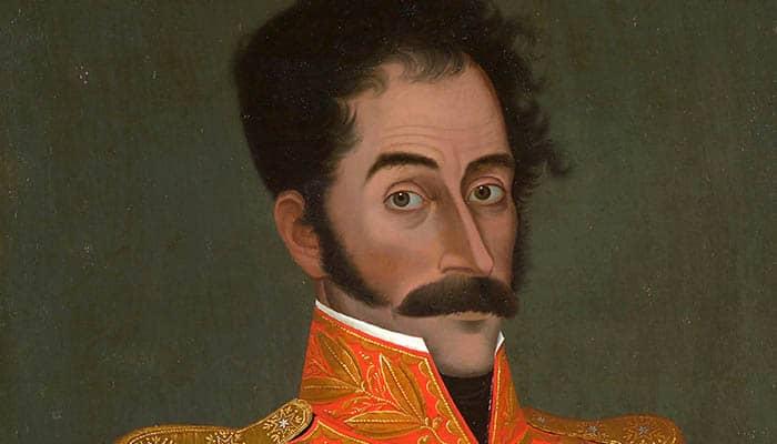 Retrato del caudillo Simón Bolívar
