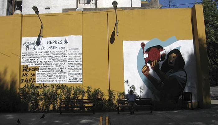 Mural sobre la crisis argentina de diciembre de 2001
