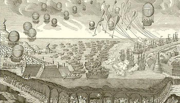 Ilustración sobre una hipotética invasión de Inglaterra por parte de los franceses
