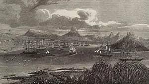 Ilustración de las islas Malvinas