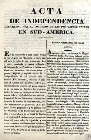 Acta de Independencia de las Provincias Unidas en Sudamérica