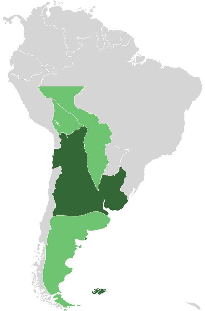 Mapa de la Independencia de Argentina