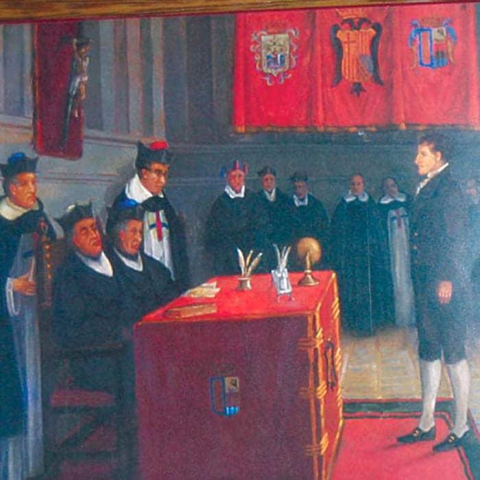 Manuel Belgrano en la Universidad de Salamanca