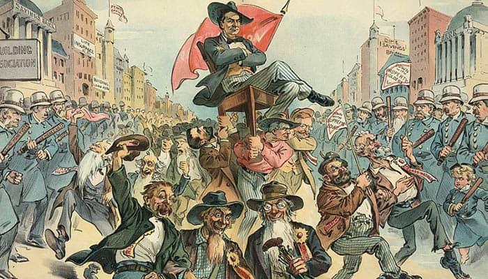 Caricatura sobre el populismo