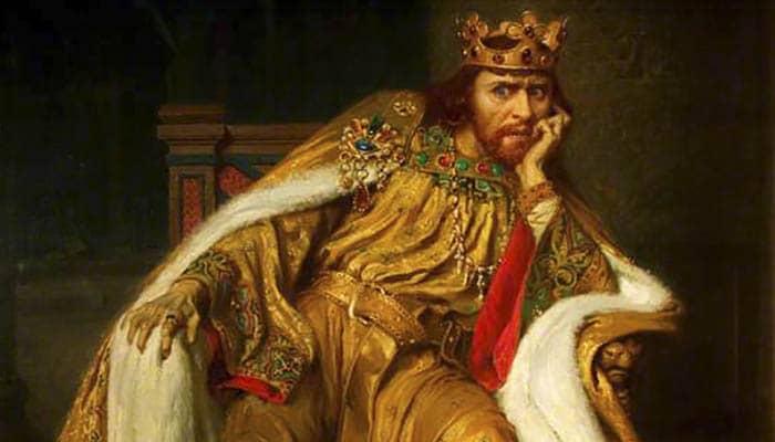Herbert Beerbohm Tree como el rey Juan de William Shakespeare