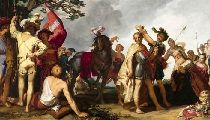 Escena de coronación