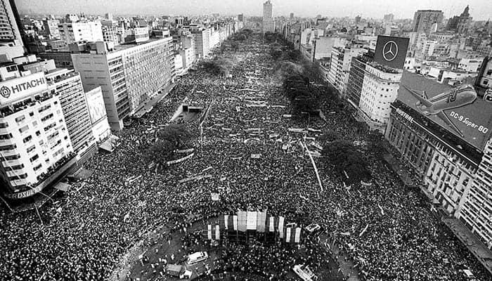 Cierre de campaña de Raúl Alfonsín