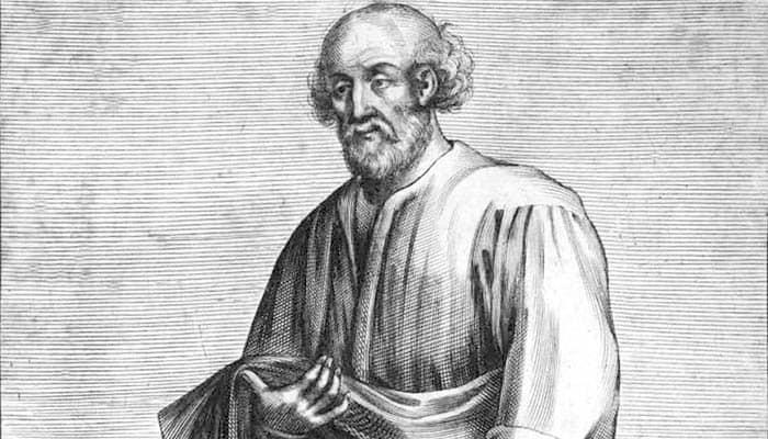 Grabado del filósofo griego Epicuro