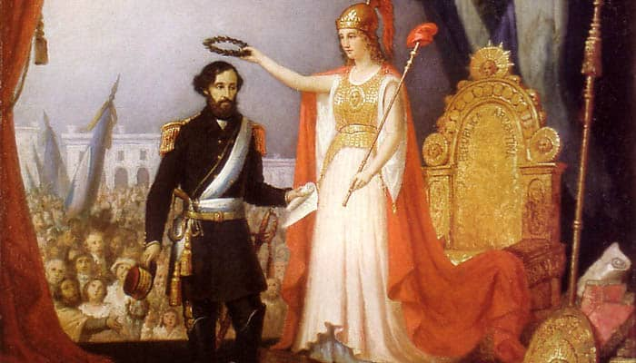 Alegoría de Bartolomé Mitre