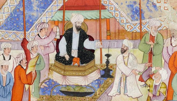 Homenaje de la población al nuevo califa Al-Mamún