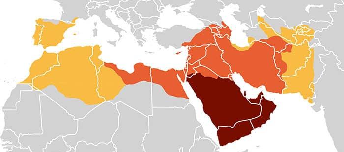 Mapa de los califatos