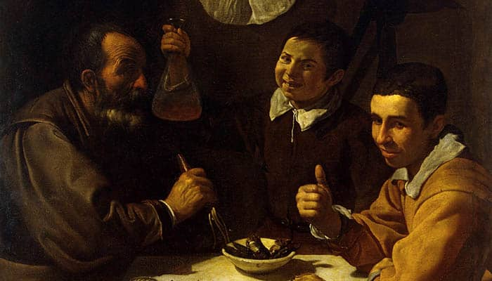 El almuerzo, de Diego Velázquez