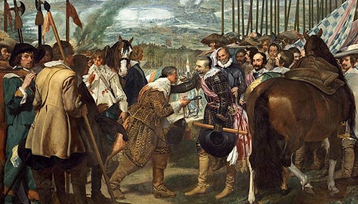 La rendición de Breda, pintura al óleo de Diego Velázquez