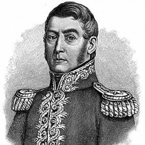 Ilustración de José de San Martín