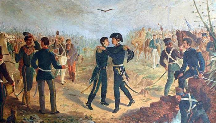 Encuentro de San Martín y Belgrano en la Posta de Yatasto