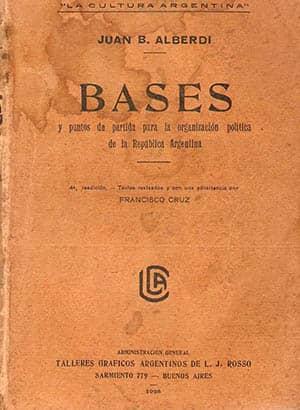 Portada de Bases y puntos de partida para la organización política de la República Argentina
