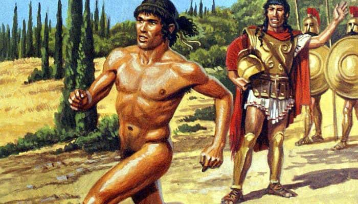 Corredor griego en los Juegos Olímpicos